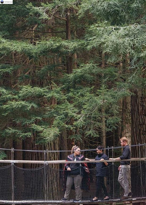 Zdjęcie numer 4 w galerii - Urocze zachowanie księcia Harry'ego podczas podróży po Nowej Zelandii. Tym gestem zadbał o Meghan i dziecko