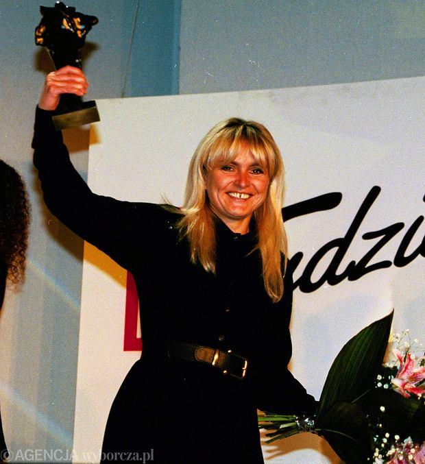 Monika Olejnik na Wiktorach w 1996.