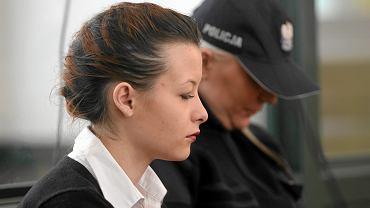 Katarzyna Waśniewska podczas procesu