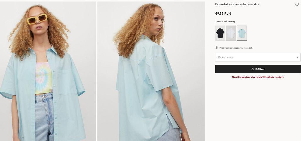 koszula oversize z HM
