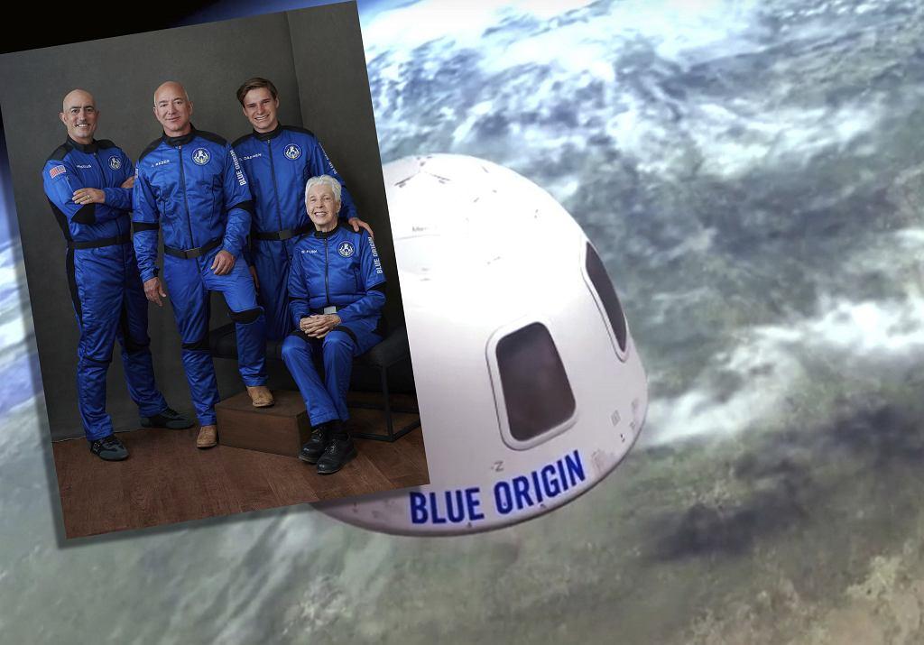 Załoga Blue Origin. Jeff Bezos leci w kosmos