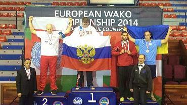 Jakub Kozera na podium mistrzostw Europy