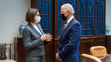 USA. Joe Biden spotkał się z Swiatłaną Cichanouską