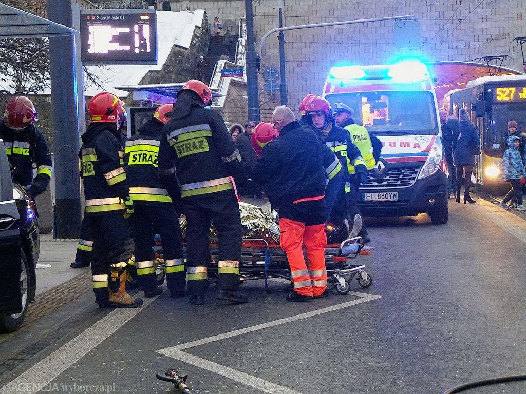Wypadek na Trasie W - Z w Warszawie