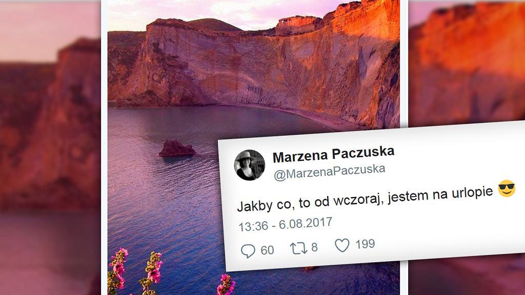 Marzena Paczuska na urlopie