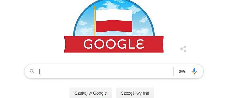 Google Doodle na Święto Niepodległości. Zmienione logo wyszukiwarki