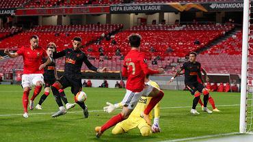 Benfica Lizbona w meczu z Glasgow Rangers