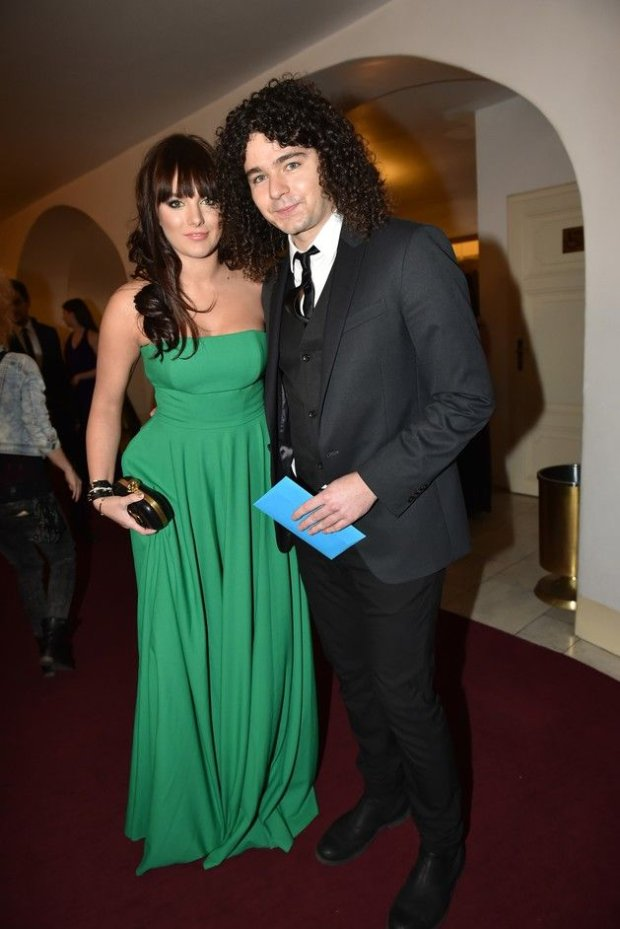 Mandatory Credit: Photo by Isifa Image Service sro/REX (4273523m)  Ewa Farna and Martin Chobot  Nightingale Music Awards, Prague, Czech Republic - 29 Nov 2014