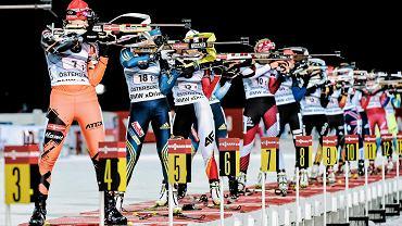 Biathloniści w Oestersund