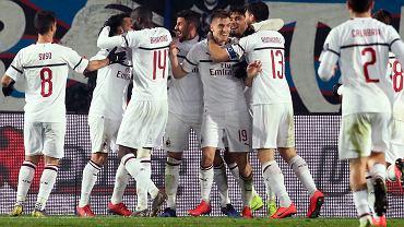 Krzysztof Piątek w meczu Serie A: Atlanta - AC Milan. bergamo, Włochy, 16 lutego 2019