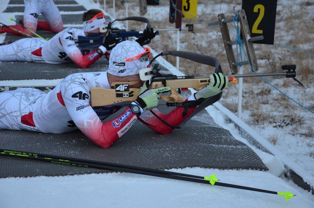 Trening polskich biathlonistów