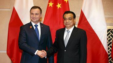 Prezydent Andrzej Duda i premier Chin Li Keqiang