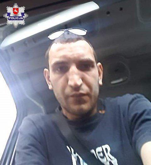 Zdjęcie mężczyzny, który włamał się do samochodu w Lublinie