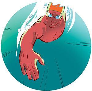 ćwiczenia, Ćwiczenia: ja dobrze pływać kraulem, Dłoń