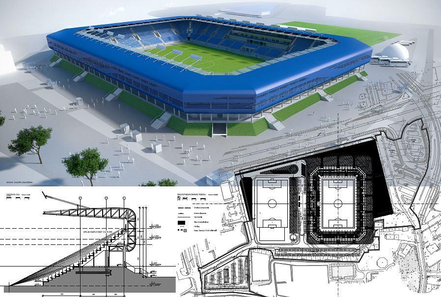 Projekt stadionu Ruchu Chorzów autorstwa firmy Atelier 7