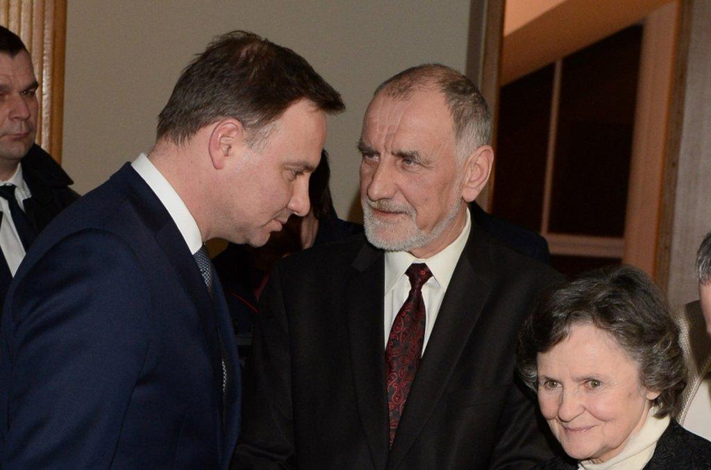 Andrzej Duda z rodzicami
