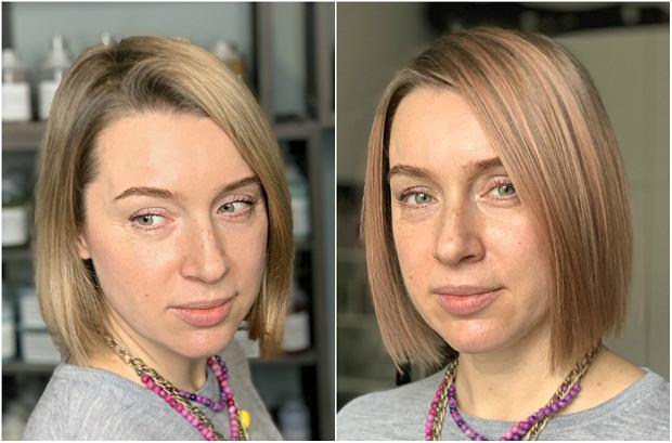 Przed i po koloryzacją
