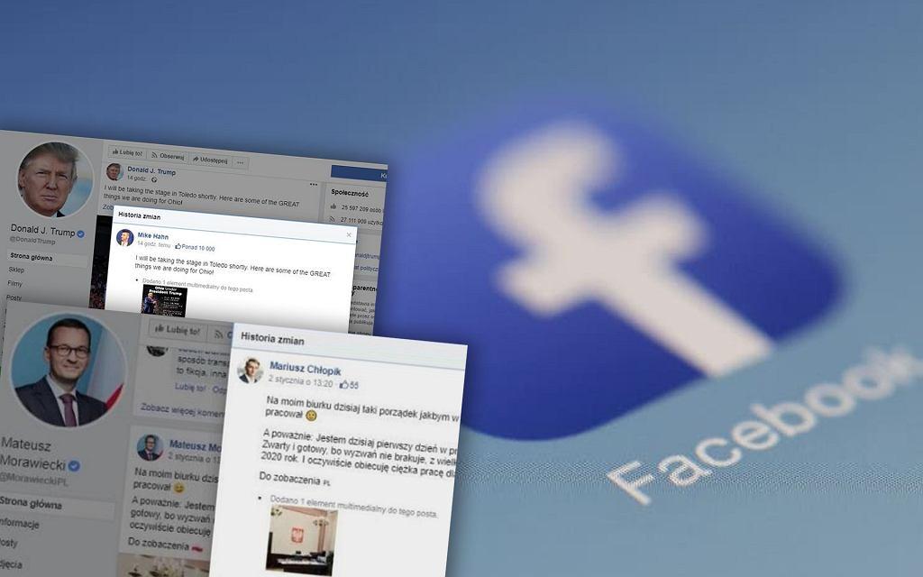 Część wpisów na Facebooku zamieszczana jest przez administratorów