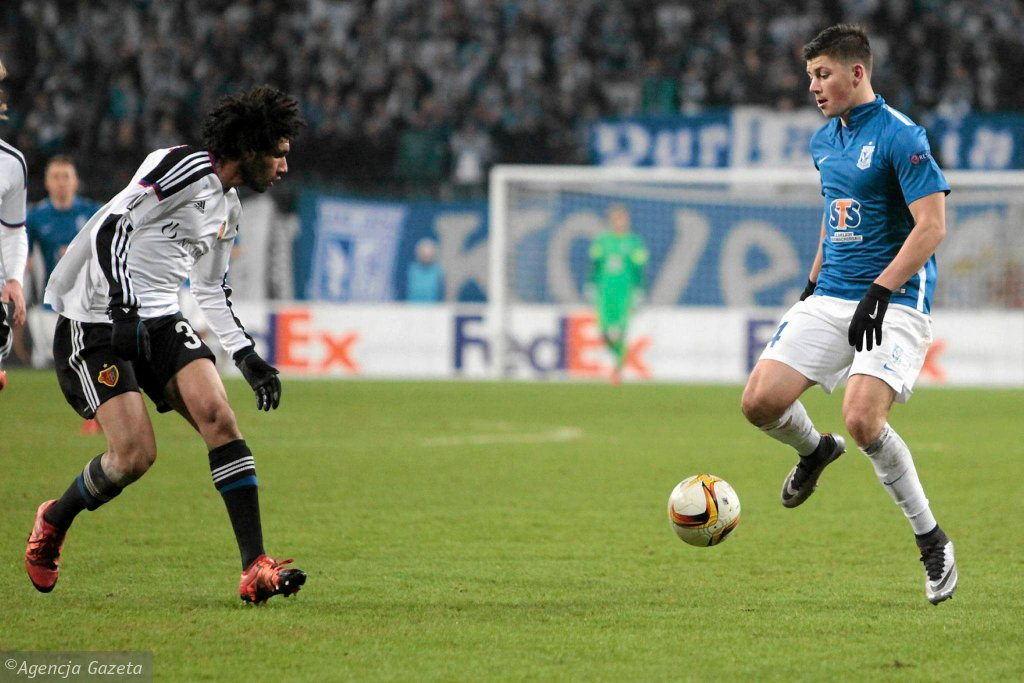 Lech Poznań - FC Basel 0:1. Dawid Kownacki i Mohamed Elneny