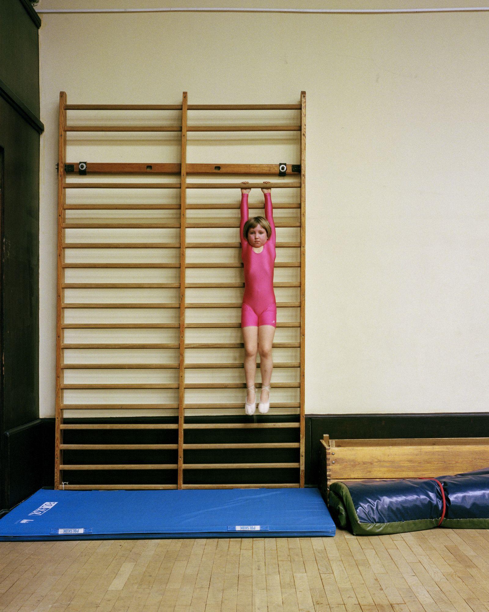 Marianna, uczestniczka zajęcia gimnastyki artystycznej w Pałacu Młodzieży (fot. Jacek Fota)