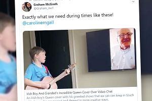 """Wnuczek chciał pochwalić się dziadkowi grą na gitarze. Utwór był znaczący: """"W końcu mogę się uśmiechnąć"""""""