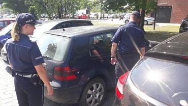 Policja w trakcie upałów tym bardziej kontroluje zaparkowane w pełnym słońcu samochody