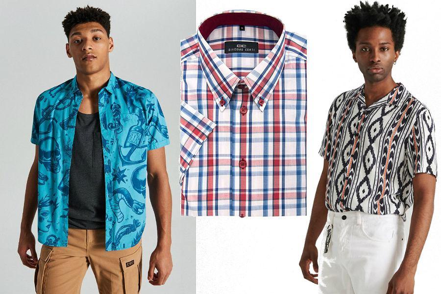 Wzorzyste koszule z krótkim rękawem - pomysł na wyjątkową stylizację