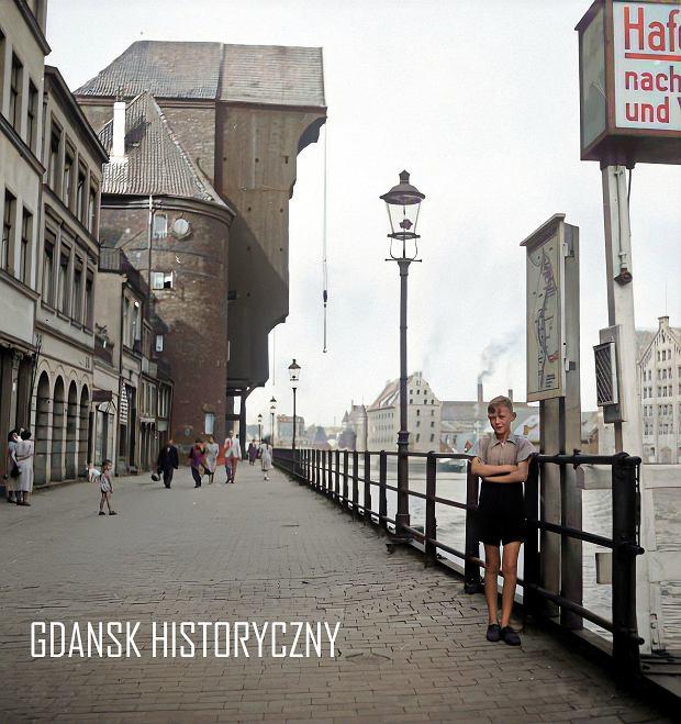 Zdjęcie numer 16 w galerii - Zdjęcia przedwojennego i powojennego Gdańska w kolorze. Zieleń drzew i czerwone cegły Bazyliki Mariackiej