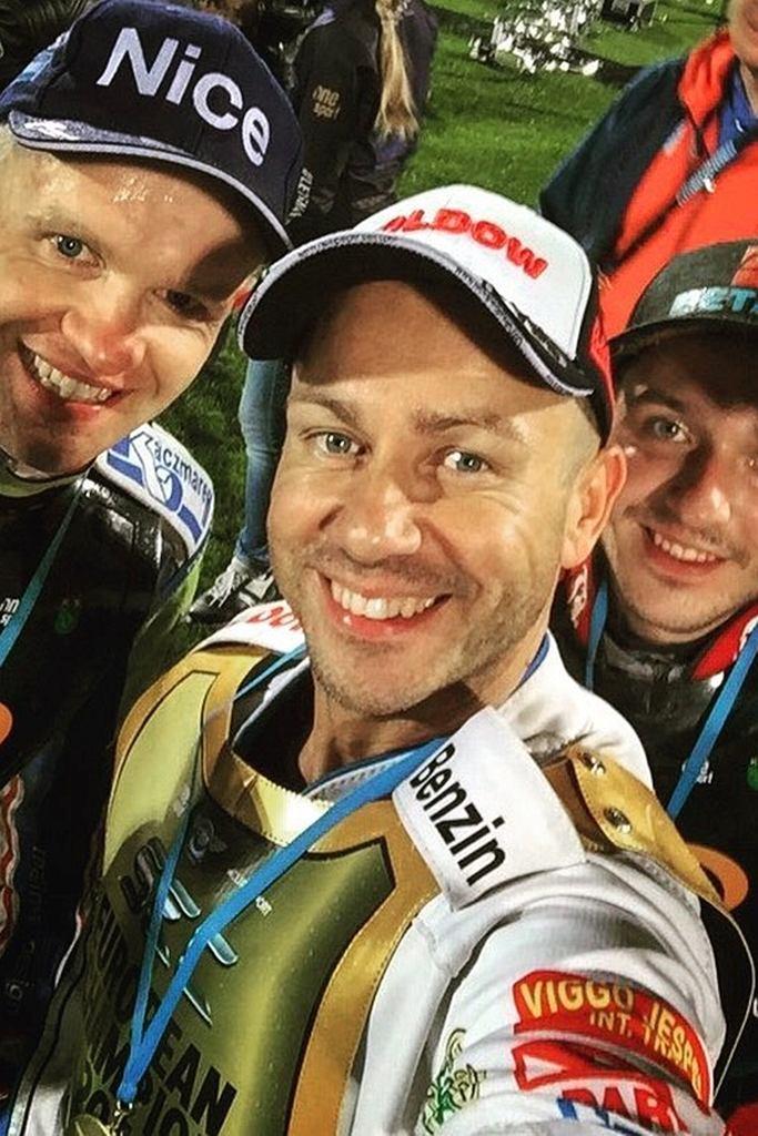 Najlepsi w SEC 2016. Od lewej: Krzysztof Kasprzak, Nicki Pedersen i Vaclav Milik