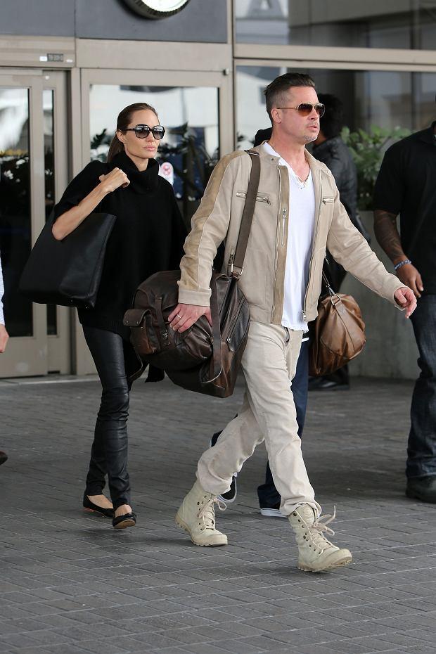 Angelina i Brad w podróży