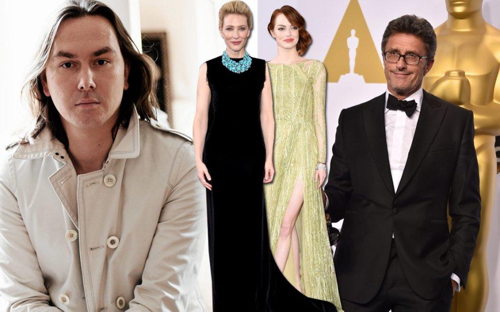 Tomasz Ossoliński (po lewej), obok Cate Blanchett, Emma Stone i Paweł Pawlikowski podczas zeszłorocznej oscarowej gali