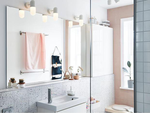 Oświetlenie IKEA w łazience