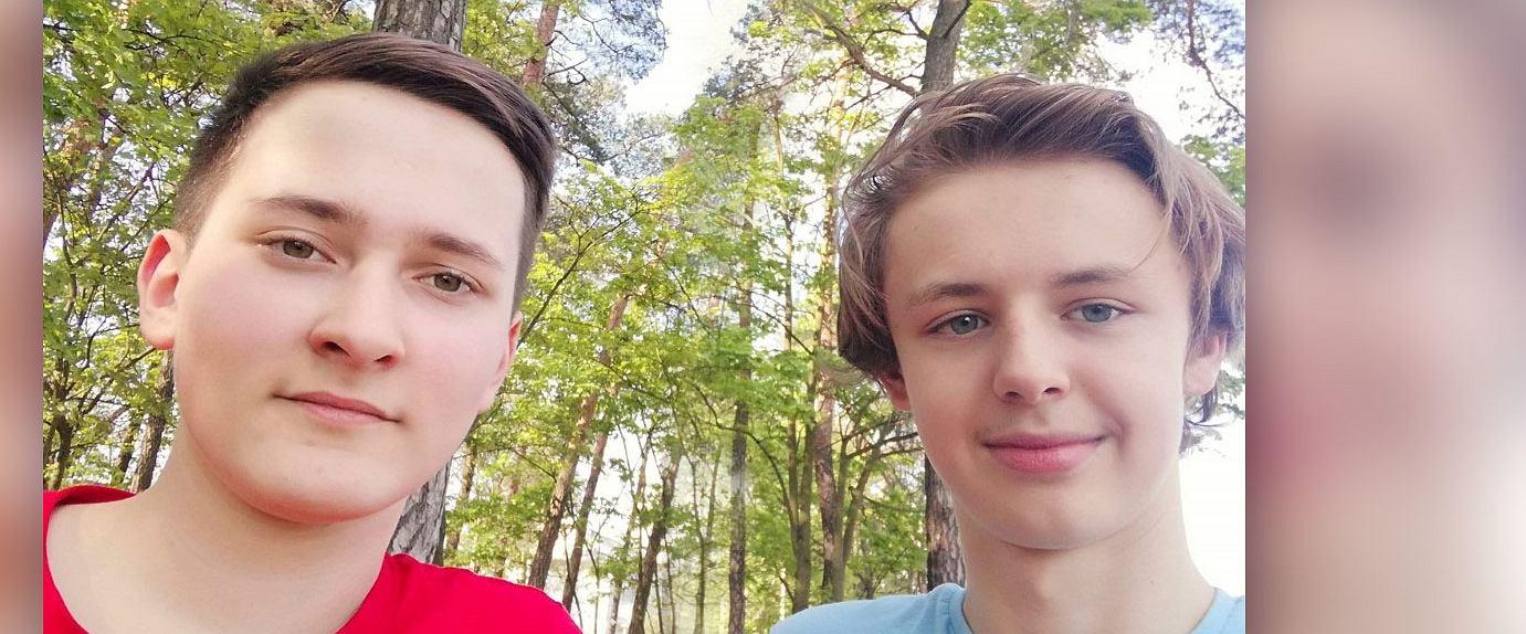 Piotr i Gabriel - pomysłodawcy i prowadzący 'Covidowy Talk-Show'. (Fot. Archiwum prywatne)