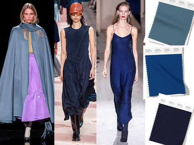 Jesienne odcienie koloru niebieskiego w kolekcjach Marc Jacobs, Sportmax i Ferragamo