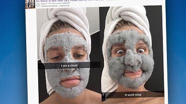 Bąbelkowa maseczka, która zamieni twoją twarz w wesołą chmurkę.