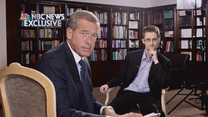 Edward Snowden podczas wywiadu w NBC