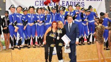 Cheerleaderki z olsztyńskiego Soltare podczas mistrzostw Polski w Łącku na Mazowszu