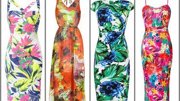 Sukienki w duże kwiaty