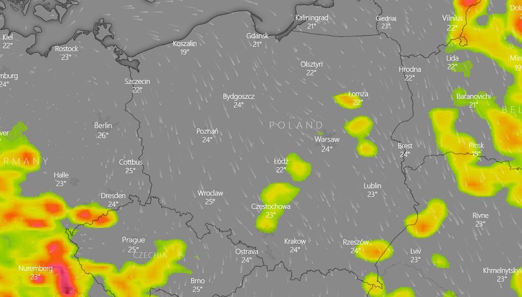 Prognoza pogody - burze nad Polską 9 czerwca 2021 (zdjęcie ilustracyjne)