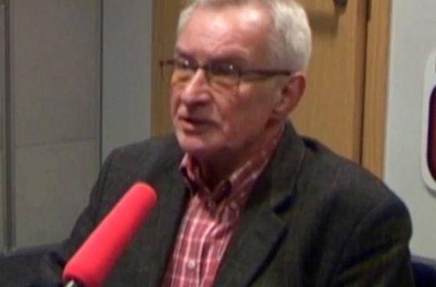 Tomasz Wołek w studiu radia TOK FM