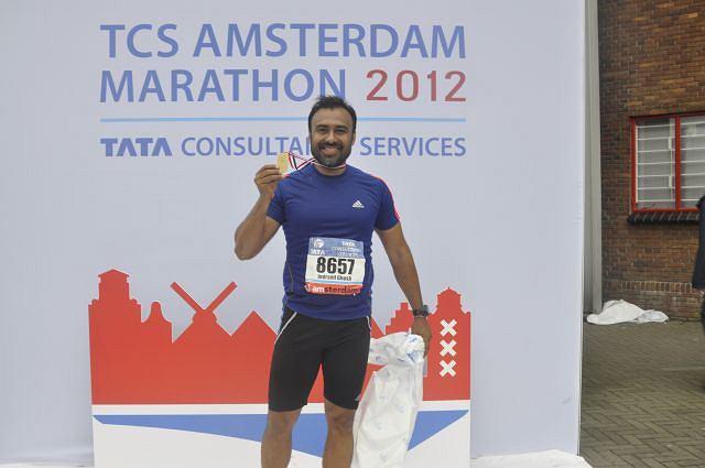 Indranil Ghosh ma na koncie prawie 30 maratonów