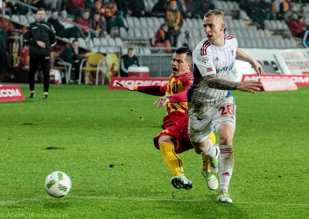 Airam Cabrera podczas meczu Korona Kielce - Górnik Zabrze 2:1