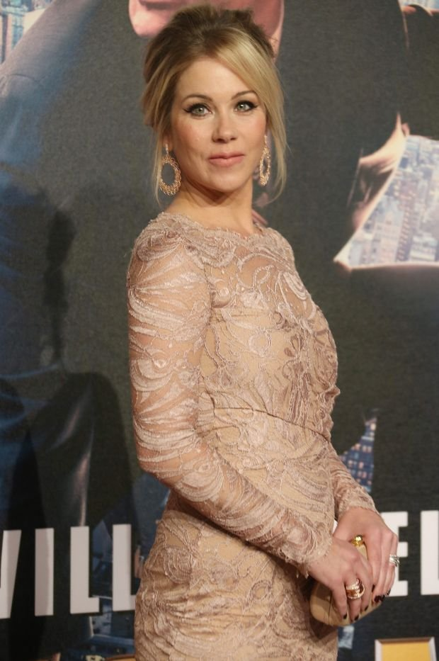US actress Christina Applegate arrives on the Burgundy carpet for the UK Premiere of Anchorman 2: The Legend Continues, at a central London cinema, Wednesday, Dec. 11, 2013. (Photo by Joel Ryan/Invision/AP)