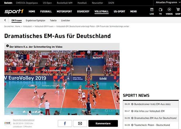 Niemieckie media po porażce z Polską