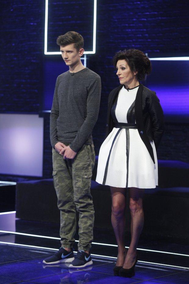 Michał i mama Ani