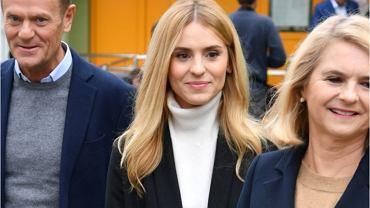 Kasia Tusk z rodzicami na wyborach 2019