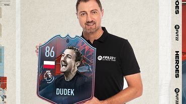 Jerzy Dudek prezentuje swoją kartę FUT Heroes.