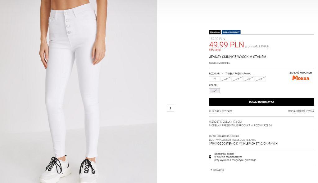 Białe spodnie Diverse