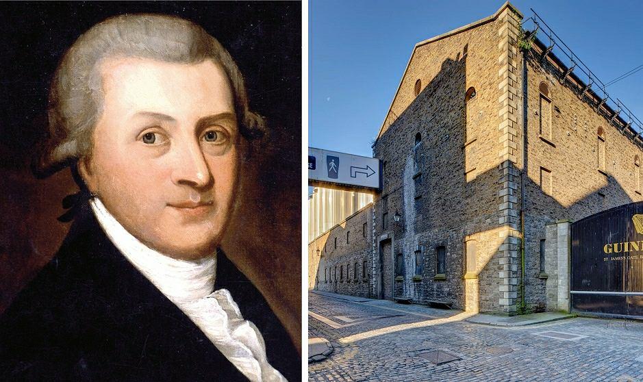 Założyciel browaru Arthur Guinness i jego siedziba w Dublinie