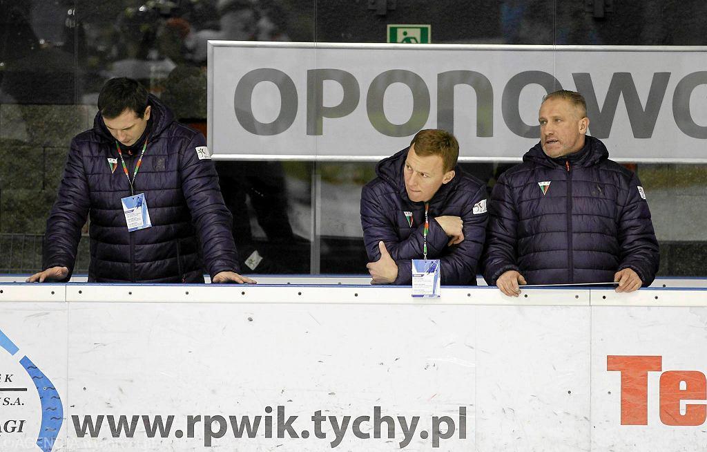 Krzysztof Majkowski podczas meczu GKS-u Tychy